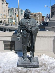 Statue of Joseph Brant, National War Memorial in Ottawa