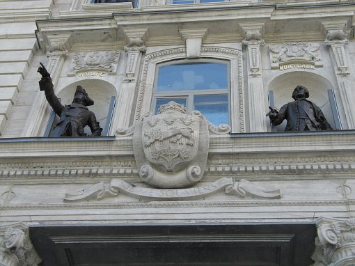 Statues Honouring Both Wolfe and Montcalm, National Assembly Building, Quebec City
