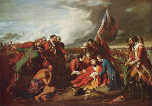 Benjamin West, The Death of General Wolfe, 1771