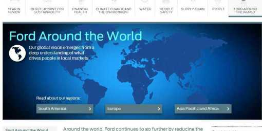 Ford Around the World - Sustainability 2012-13 - Ford Motor Company